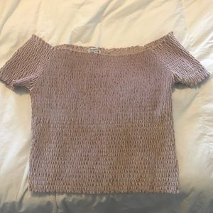 Off the shoulder urban outfitters cropped top